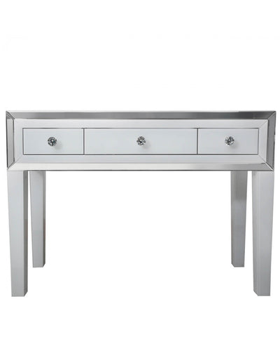 White Mirrored 3 Drawer Dressing Table