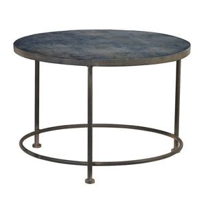 Paris Blue Glass Top Table