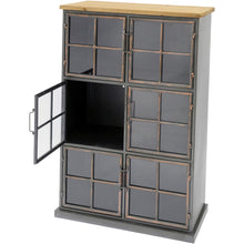 Load image into Gallery viewer, Moresby 6 Door Wood And Iron Cabinet