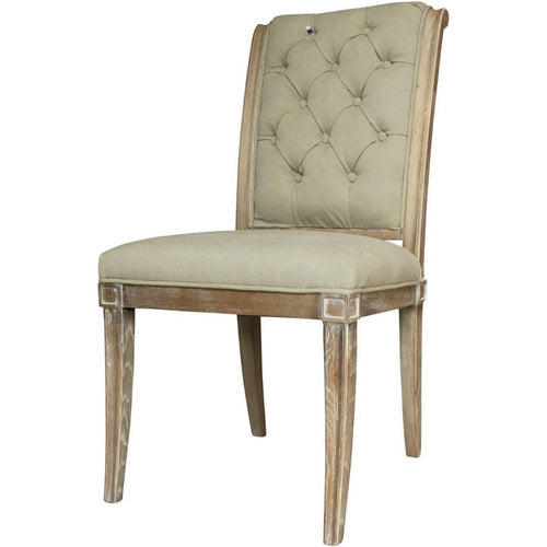 Homestead Grey Button Back Dining Chair