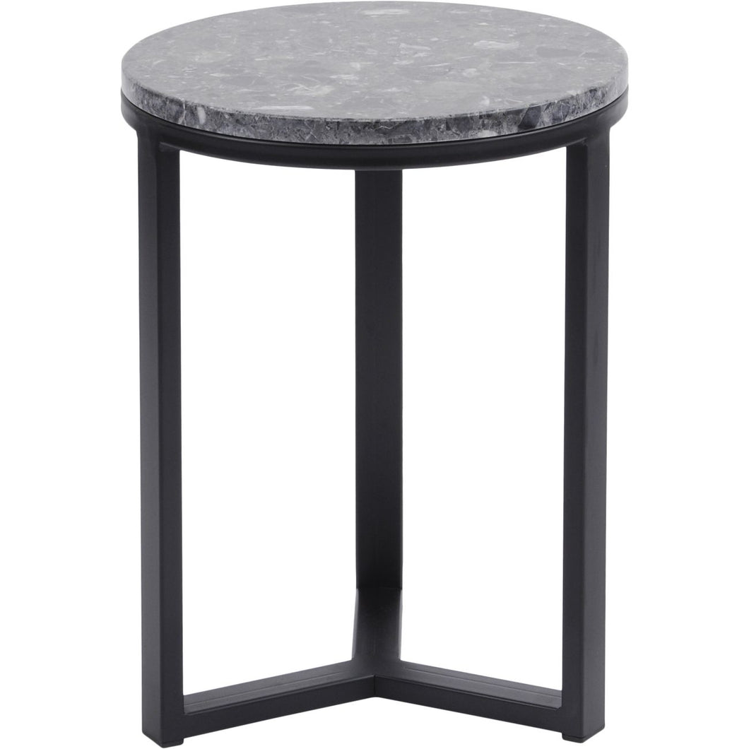 Shoreditch Black Metal and Grey Travisso Side Table