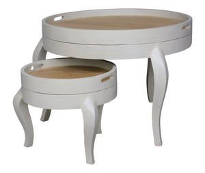Annabelle Circular Nest of Tables (Wood Top)