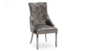 Belvedere Knockerback Dining Chair Grey