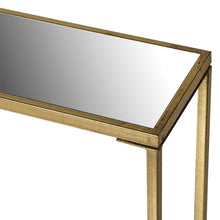 Load image into Gallery viewer, Kensington Gold Mirror Console Table