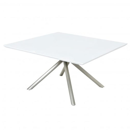 Genova White Glass Table