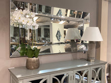 Load image into Gallery viewer, Florence 4 Drawer Grey Mirrored Sideboard