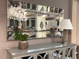 Florence 4 Drawer Grey Mirrored Sideboard