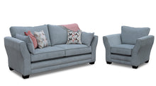 Load image into Gallery viewer, Leanne Sofa in Aqua Clean Fabric