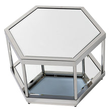 Load image into Gallery viewer, Mirrored Octagonal Stainless Steel Coffee Table
