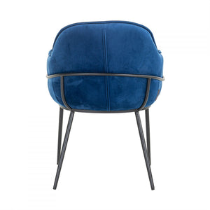 Naomi Blue Velvet Chair