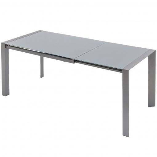 Brindisi 1.22M Glass Table in Grey