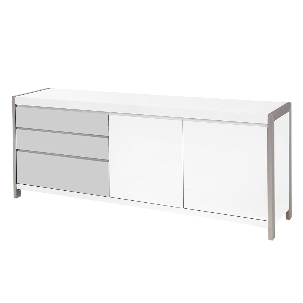 Dolcedo White High Gloss Sideboard