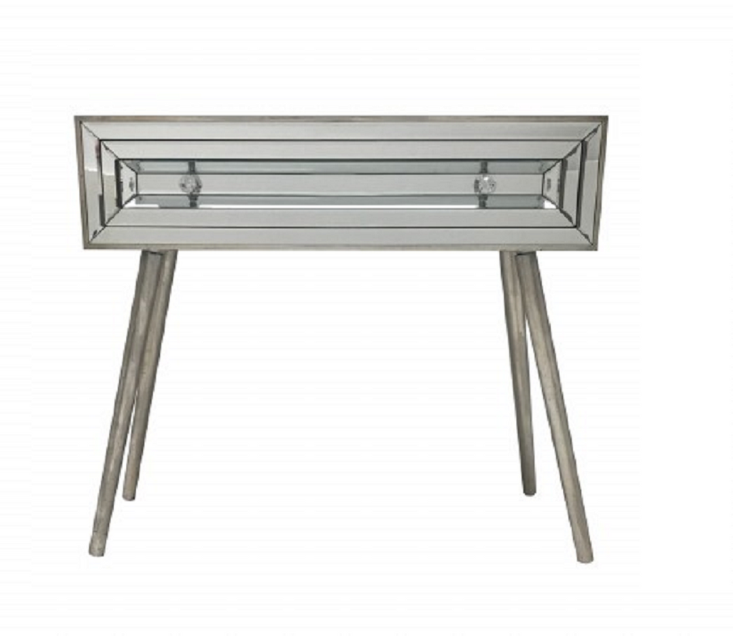 Hollywood Mirrored and Wood Console