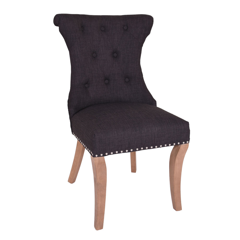 Rochelle Knocker back Dining Chair Charcoal