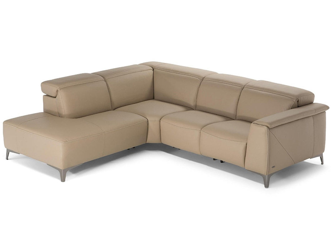 Trionfa C074 Natuzzi Editions Leather Electric Triple Motion Corner Group
