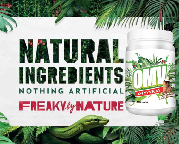 FREAKY BY NATURE OMV DELICIOUS ORGANIC PROTEIN