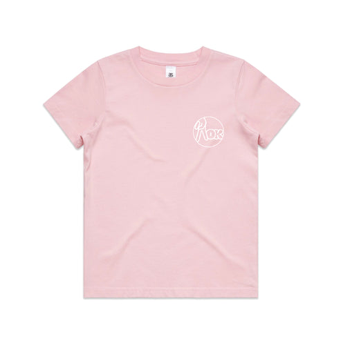 AOK Youth Logo Tee - Pink
