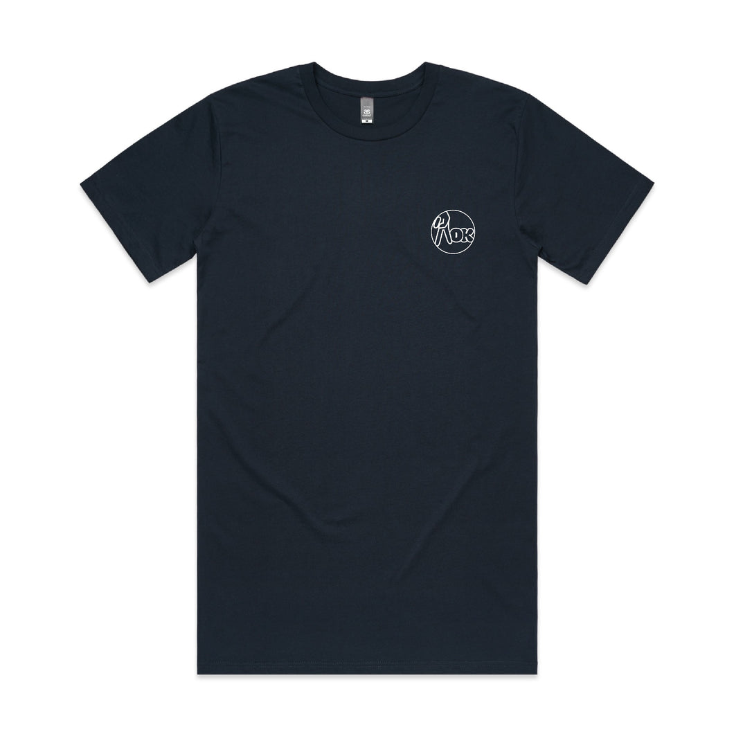 AOK Tall Tee - Navy - Last Sizes
