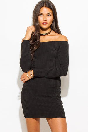 Amara Off The Shoulder Dress - Black