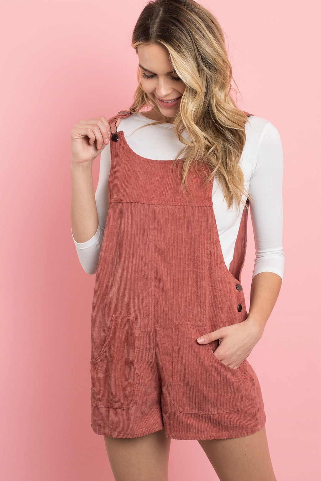 Corduroy Love Relaxed Overall Romper