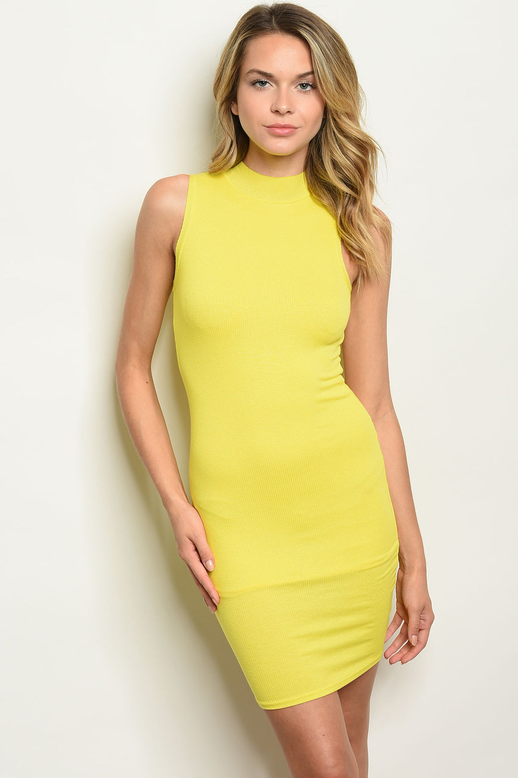 Hit the Floor Yellow Mini Dress