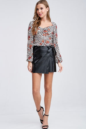 My Crush Is A Leopard Blouse