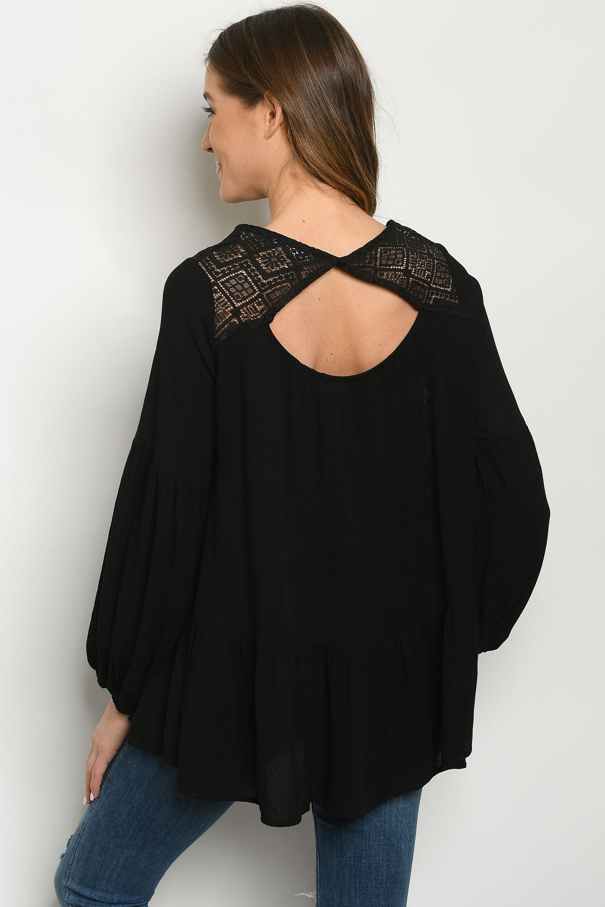 Black Moon Lace Blouse