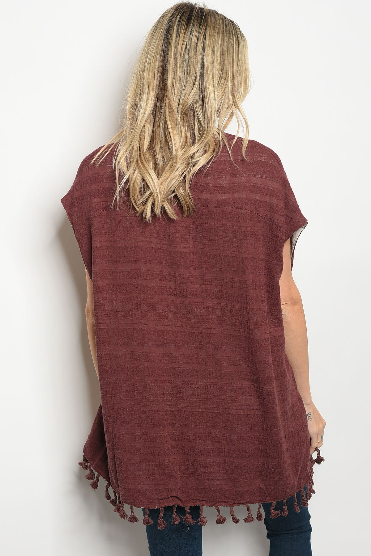 Margot Burgundy Cardigan