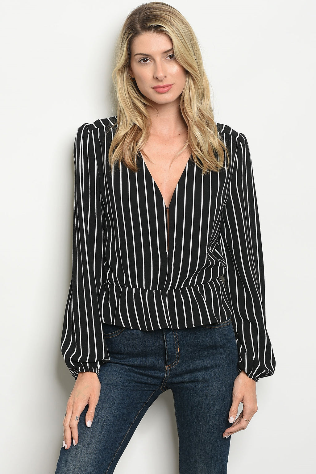 Baby Be Line Striped Top (Black)