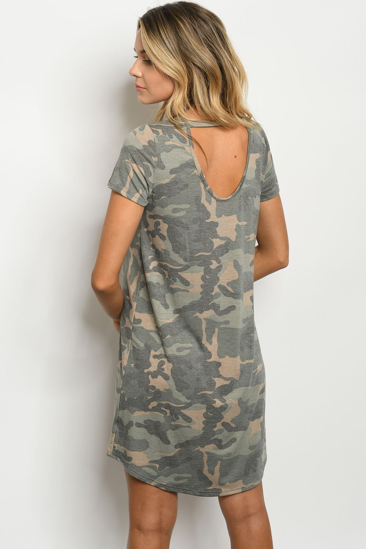 Wash the World Camo Tee Dress