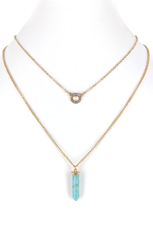 Layered Turquoise Stone Necklace