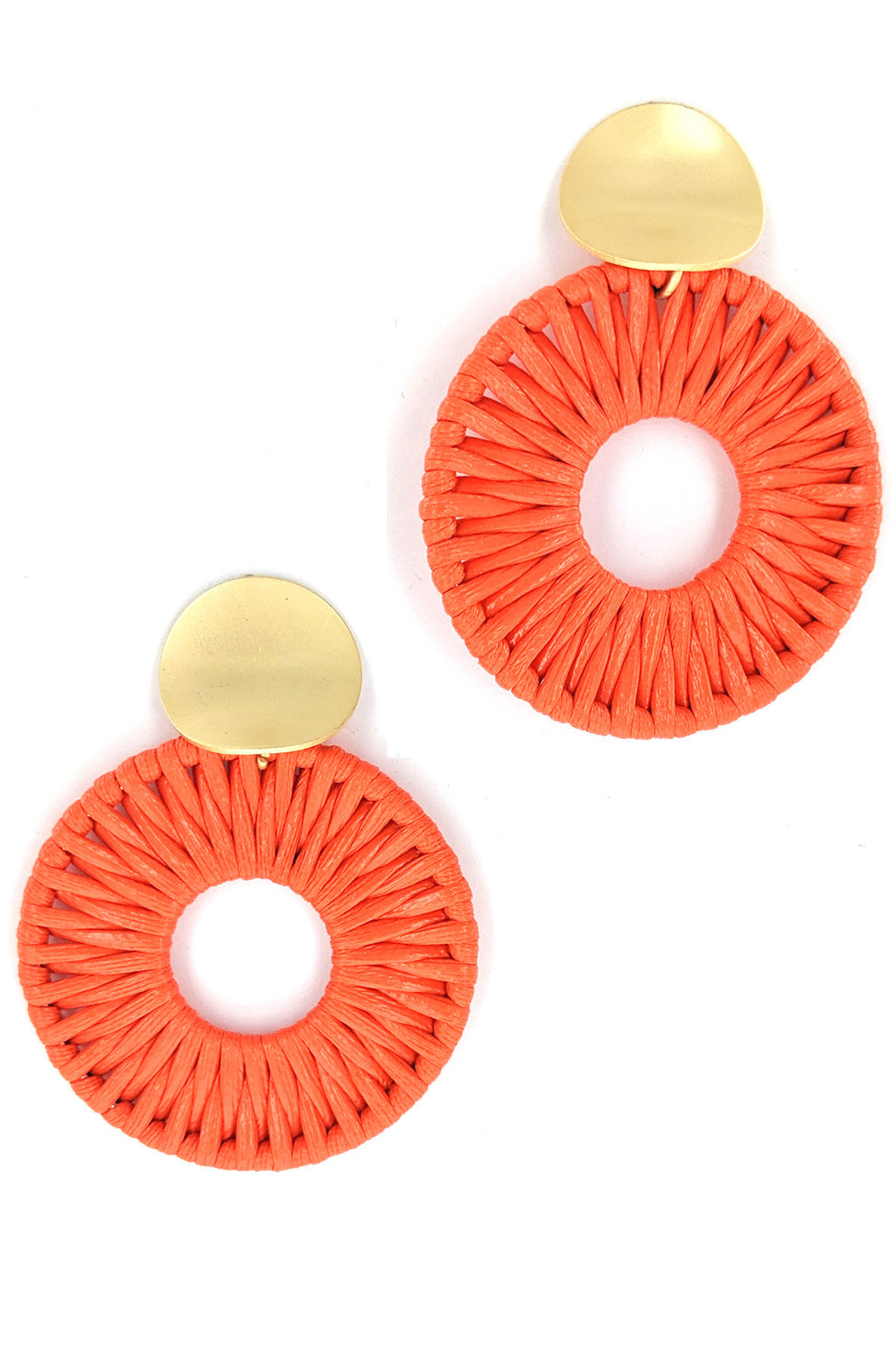 Orange Is My Happy Color Earrings