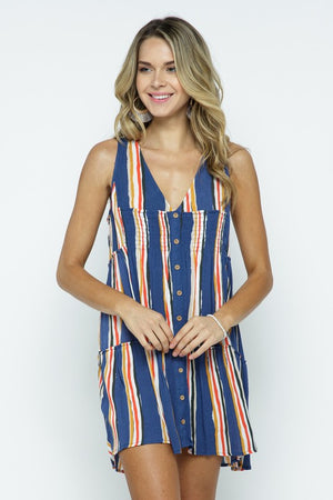 Going Stripes Mini Dress