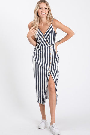 Don't Spot Being Yourself Stripes Midi Dress