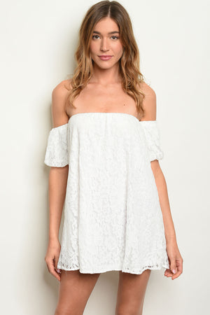 Sun Off-the-Shoulder Mini Dress