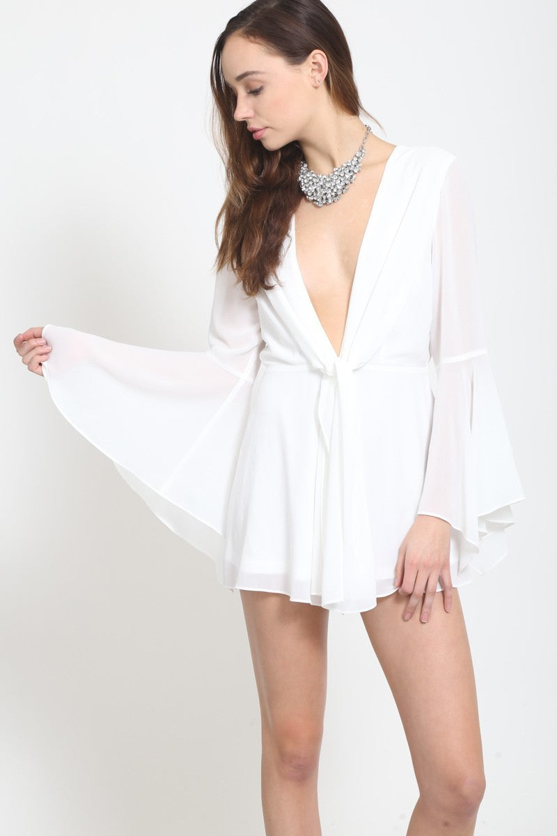Athens Off White Romper