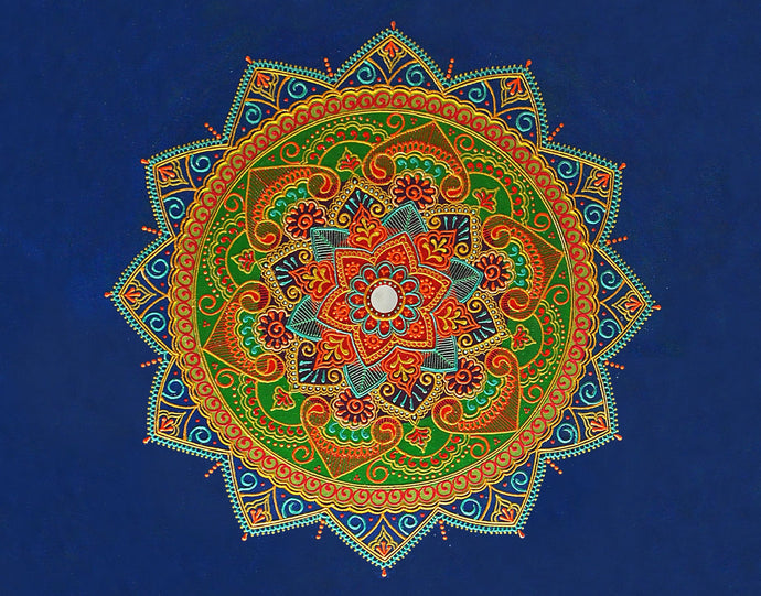 Blue Expanse Mandala - Art by Bala