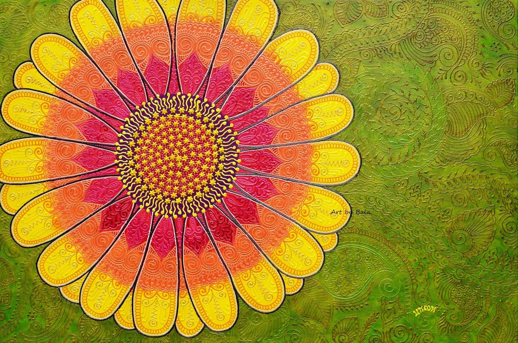 African Daisy - Art by Bala