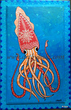 Load image into Gallery viewer, Squid Coloring Page - Art by Bala