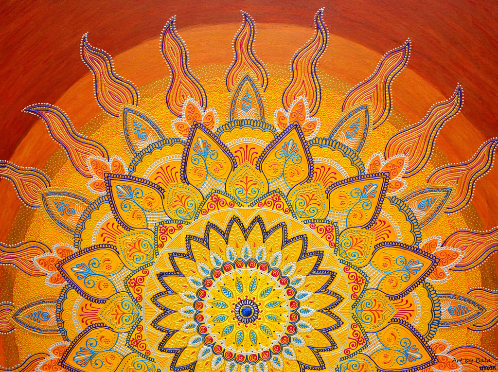 Golden Dawn Mandala - Art by Bala