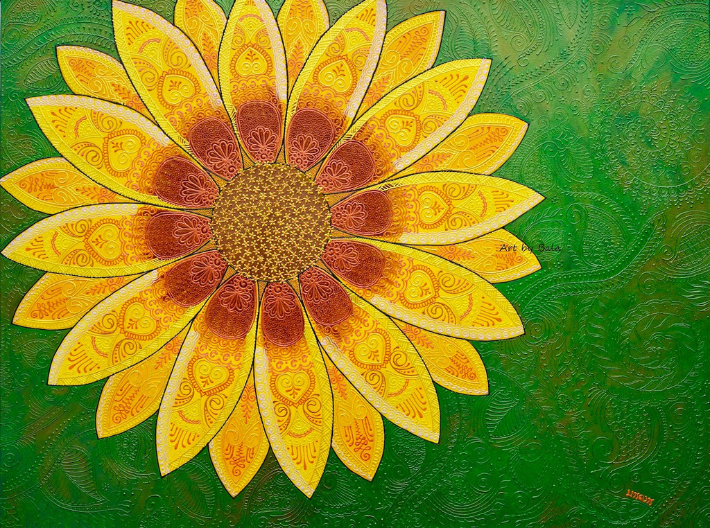 Sun Flower - Art by Bala