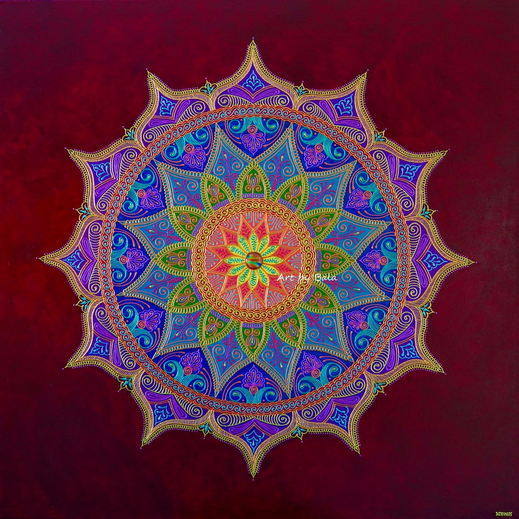 Joy Mandala - Art by Bala