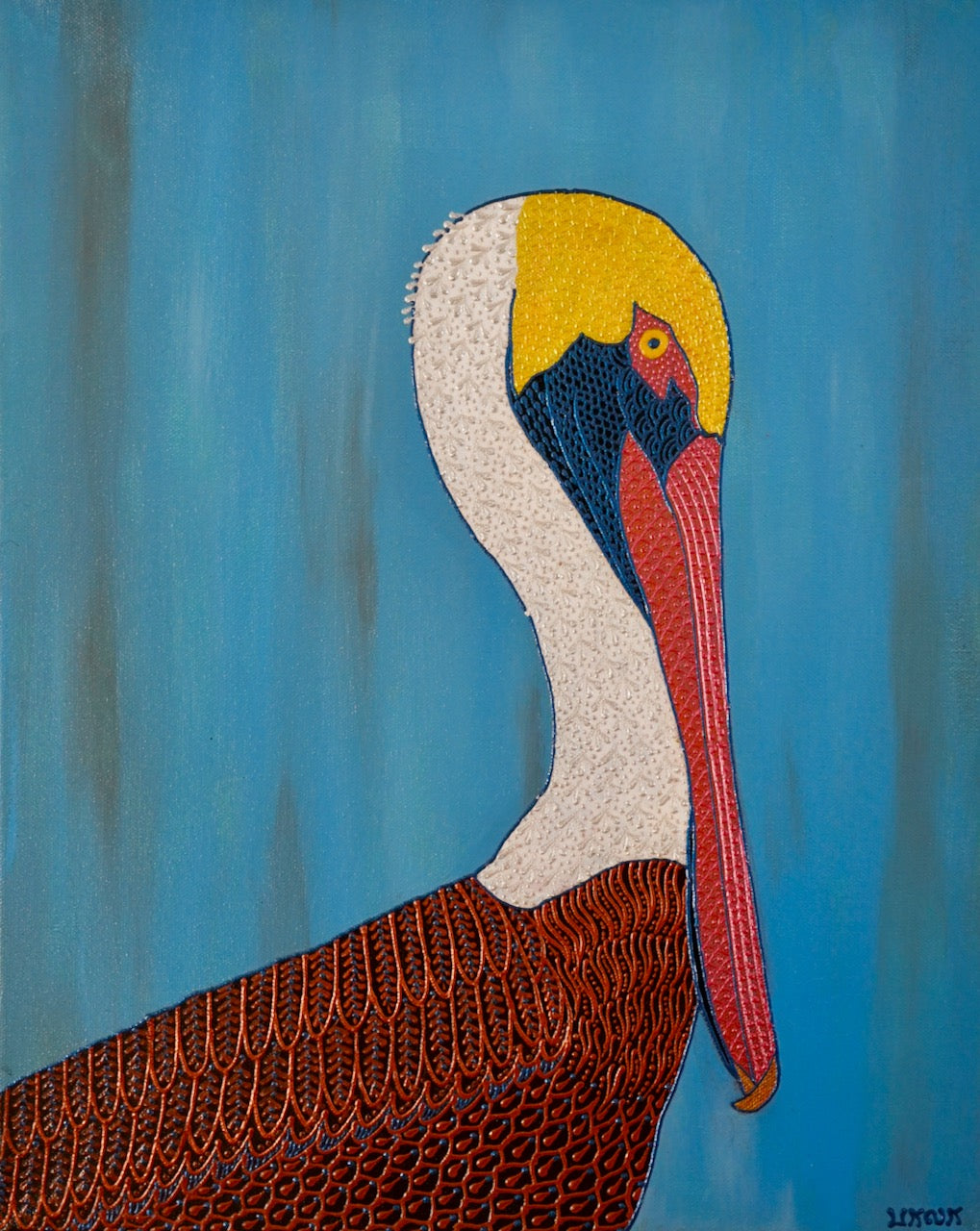 Brown Pelican - Art by Bala