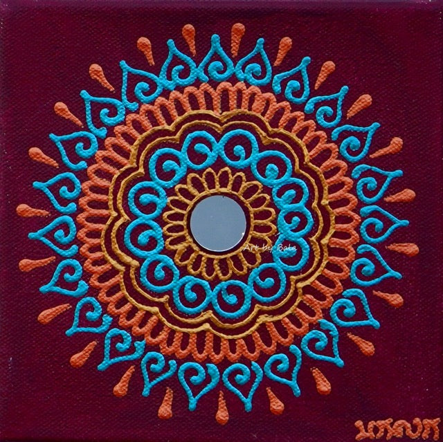 "6"" x 6"" Mandala - 6 - Art by Bala"