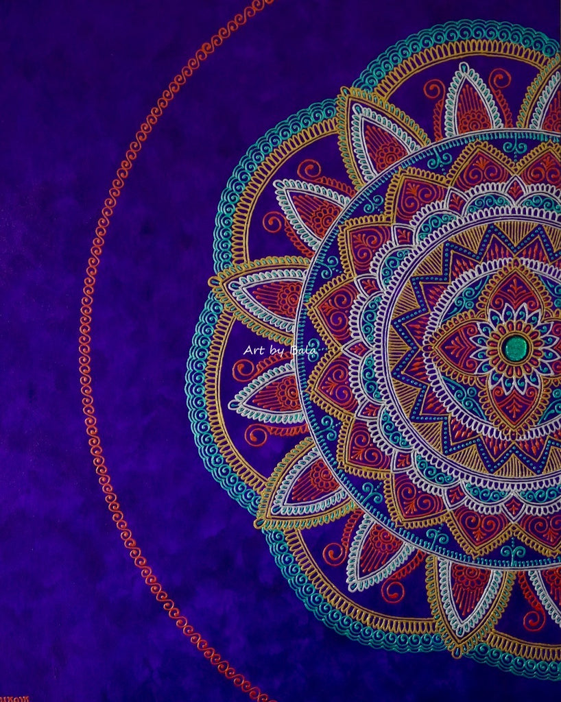 Believing Mandala - Art by Bala
