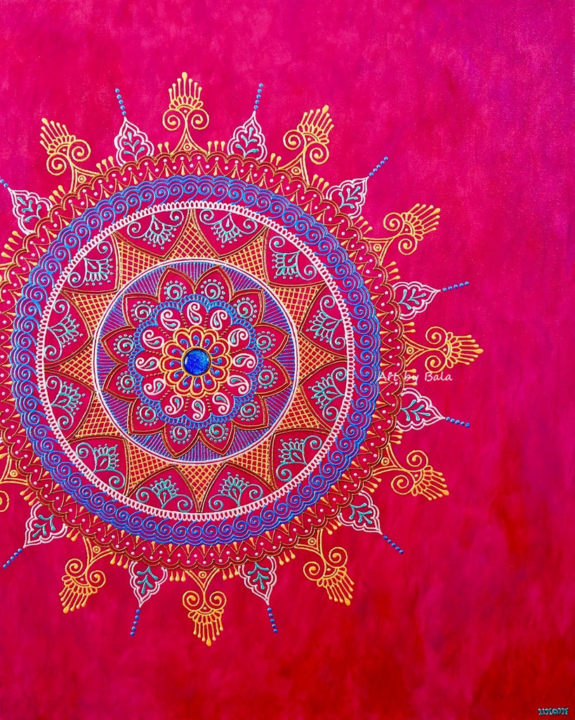 Illuminate Mandala - Art by Bala