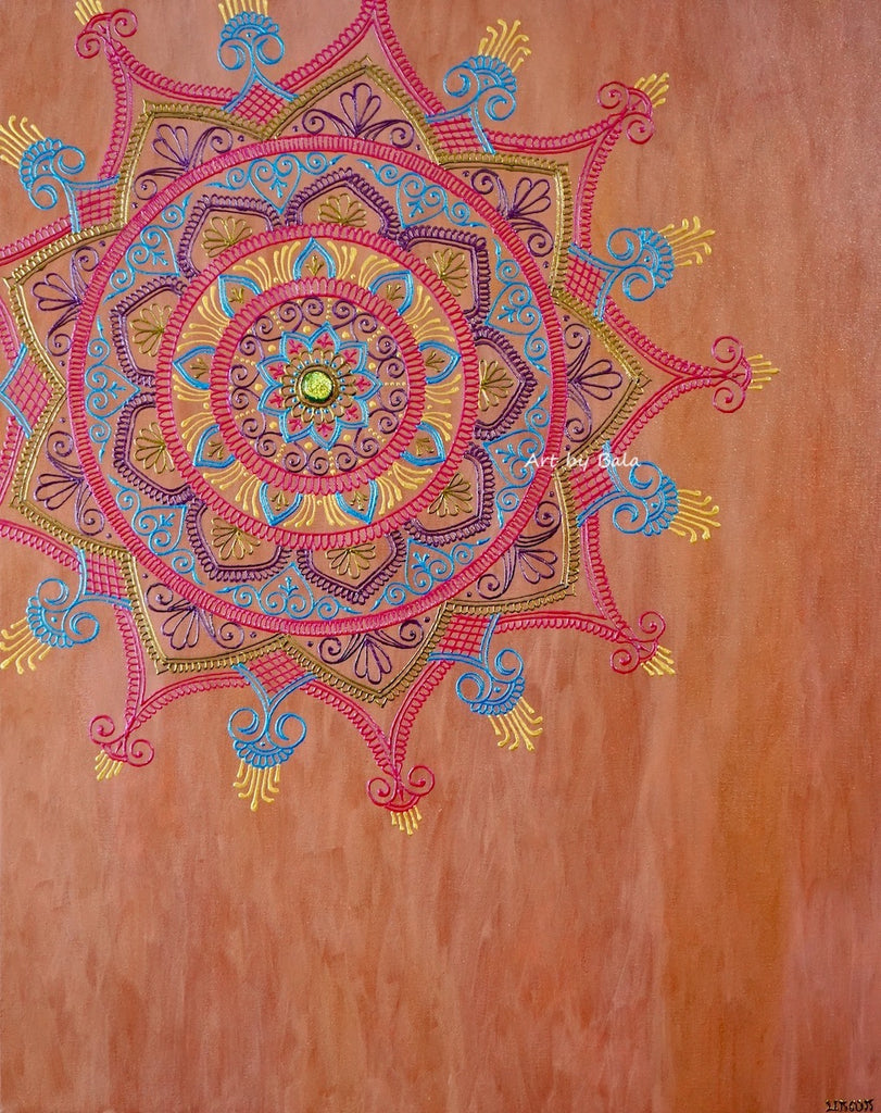 Contemplate Mandala - Art by Bala