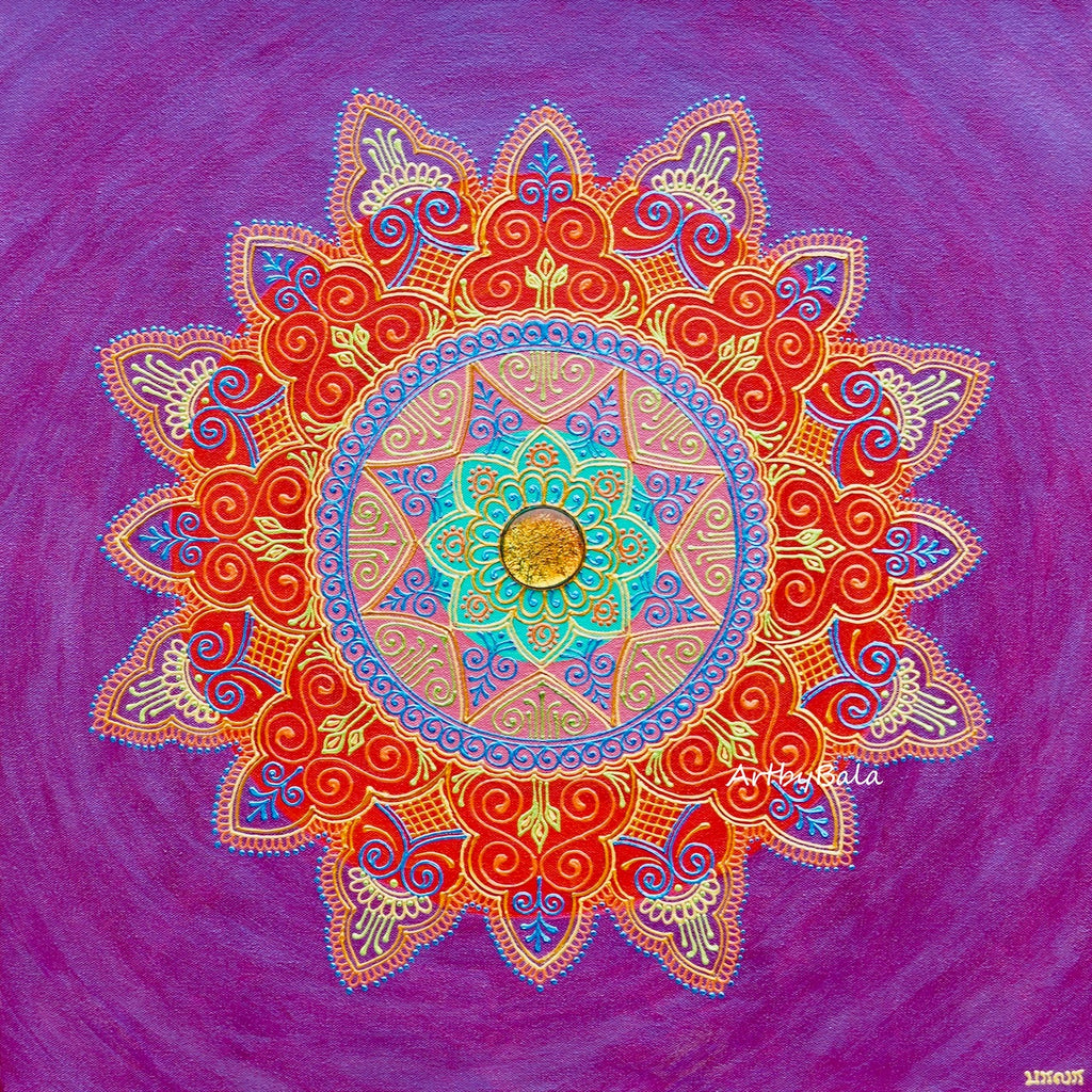 Courage Mandala - Art by Bala