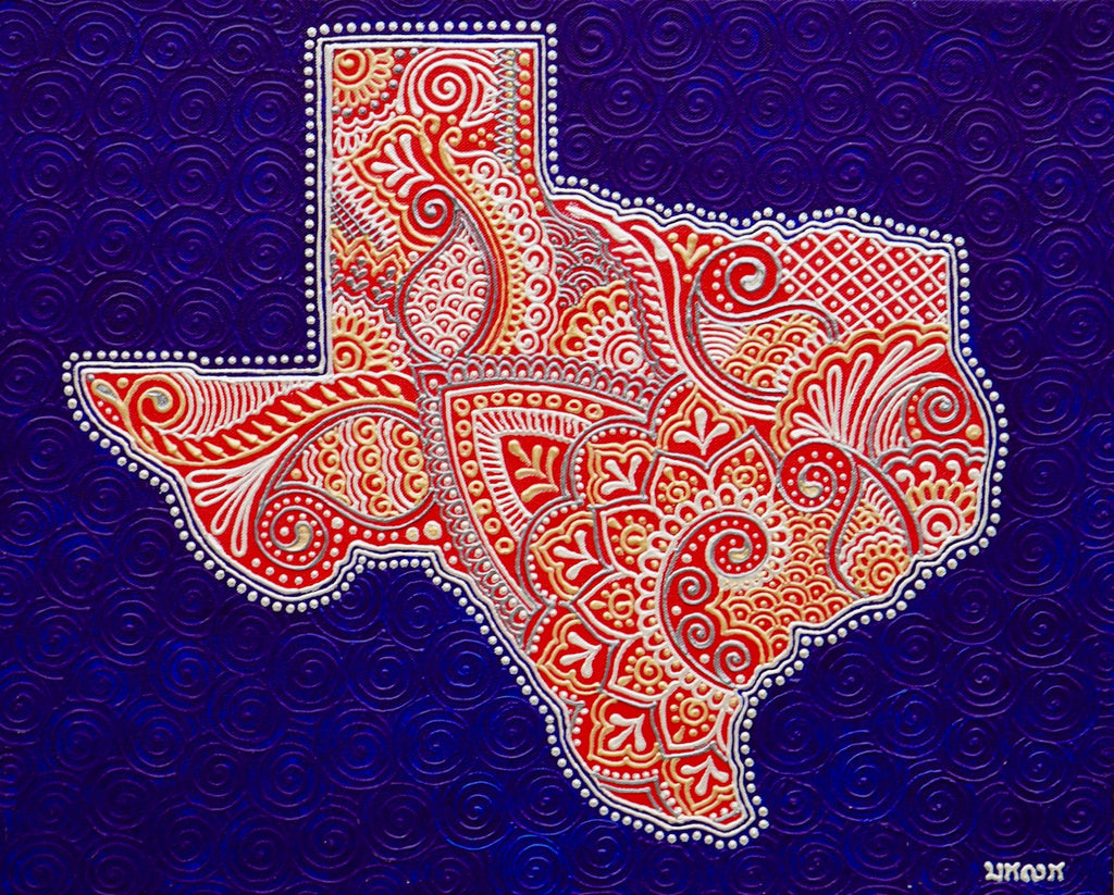 Texas State - Art by Bala