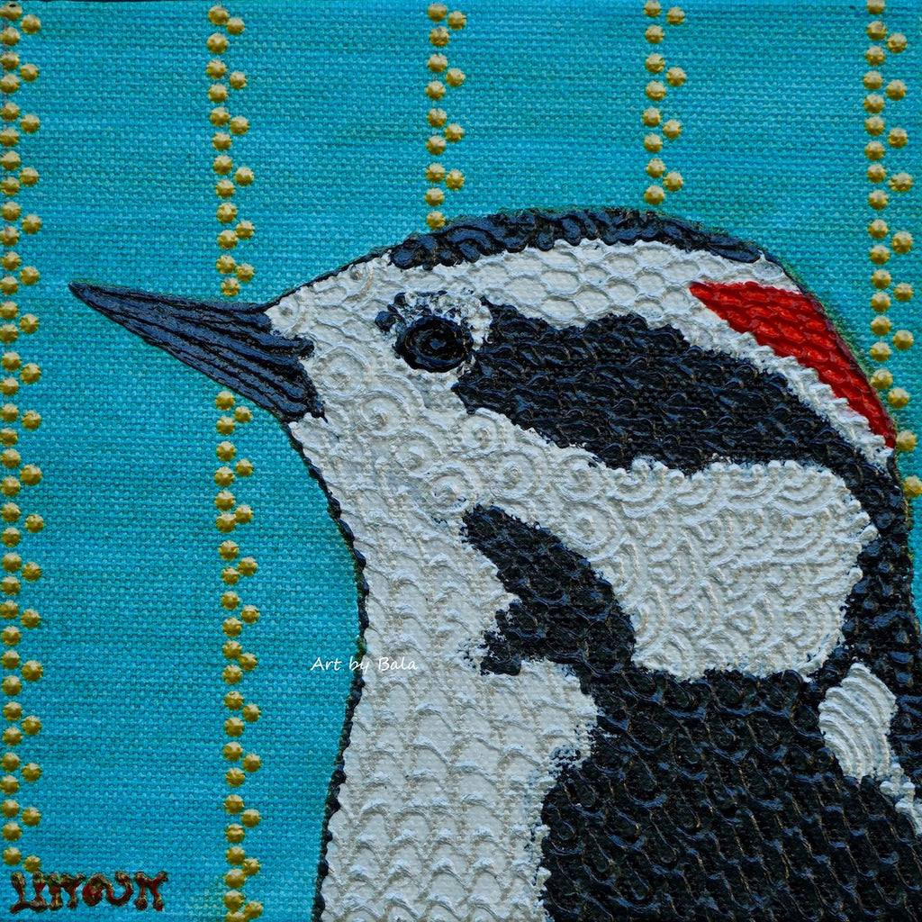 Downy Woodpecker - Art by Bala